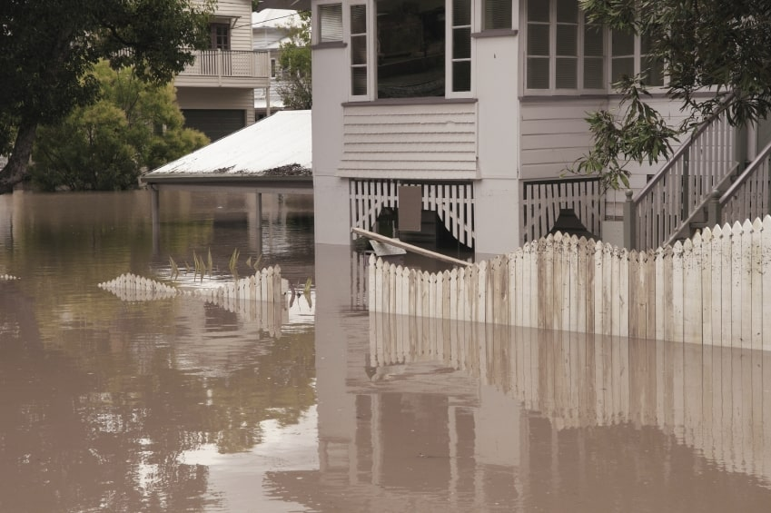 picture of flooded home